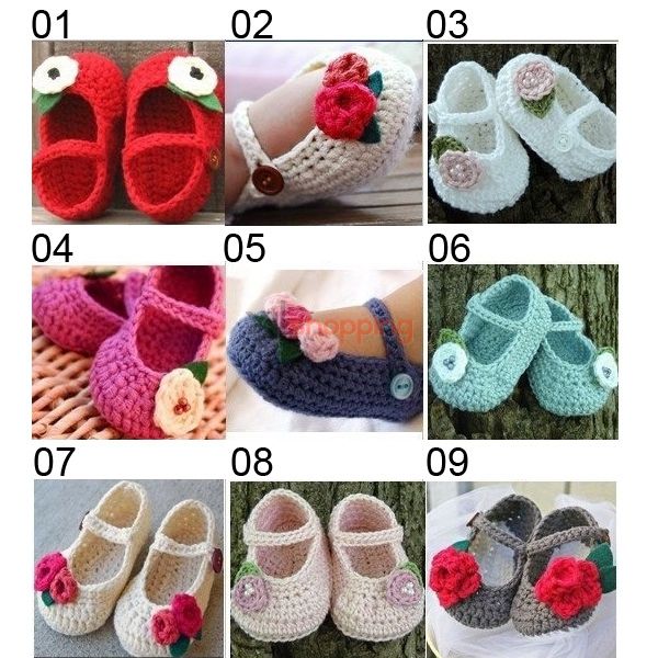 Hand-knitted baby shoes、0-2 years Newborn Baby Shoes