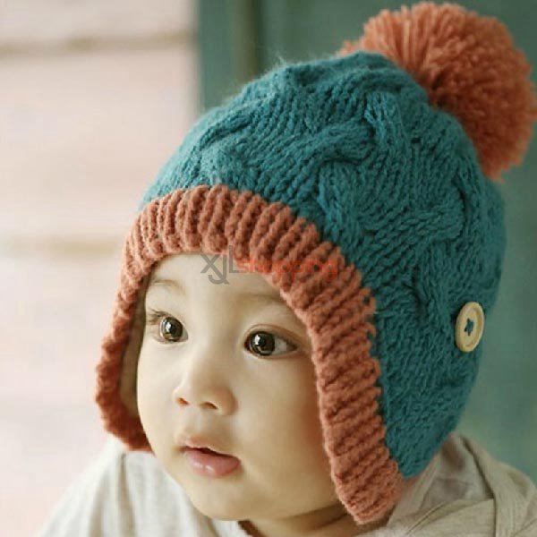 Children S Wooden Buckle Ear Cap Wool Hat Children Hats 16 6 99 Xjlshopping Wholesale Best Online Shopping Here