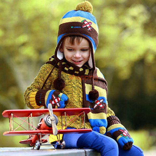 Children aircraft cap + Scarf